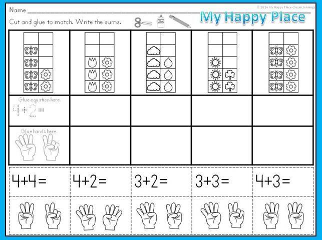 Ten Frames Addition Worksheets
