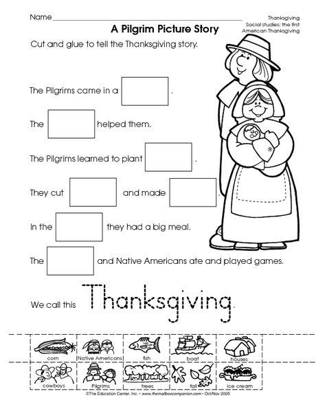 Thanksgiving Worksheet  Reading Informational Text A Pilgrim