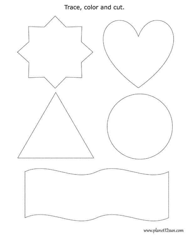 Vpk Worksheet  Trace, Color, Cut