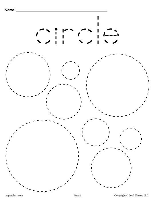 12 Free Shapes Tracing Worksheets!