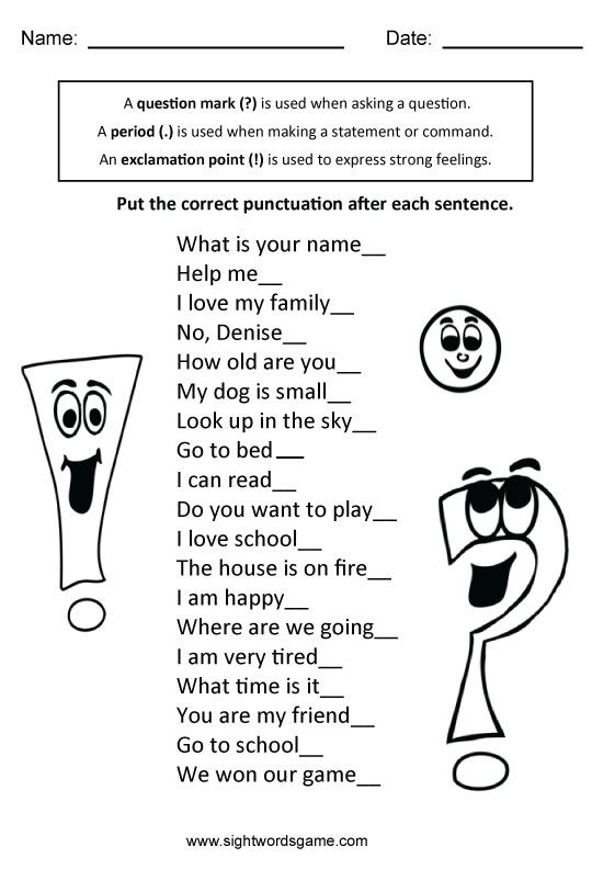 Types Of Sentences 2nd Grade