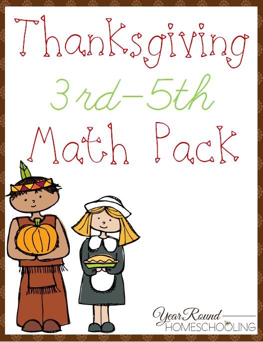 Free Thanksgiving Math Pack (3rd