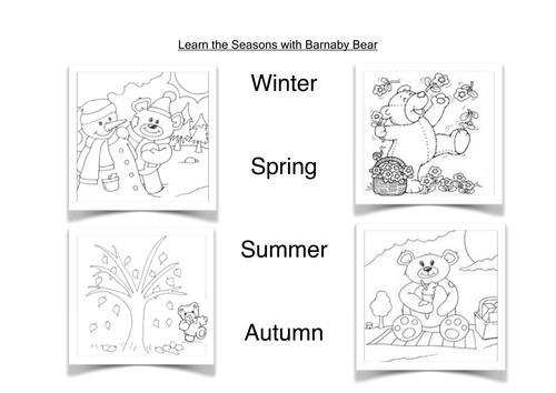 Imagini Pentru The Four Seasons Worksheets