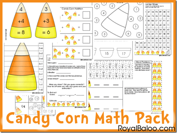 Math  Free Candy Corn Math Printable Pack