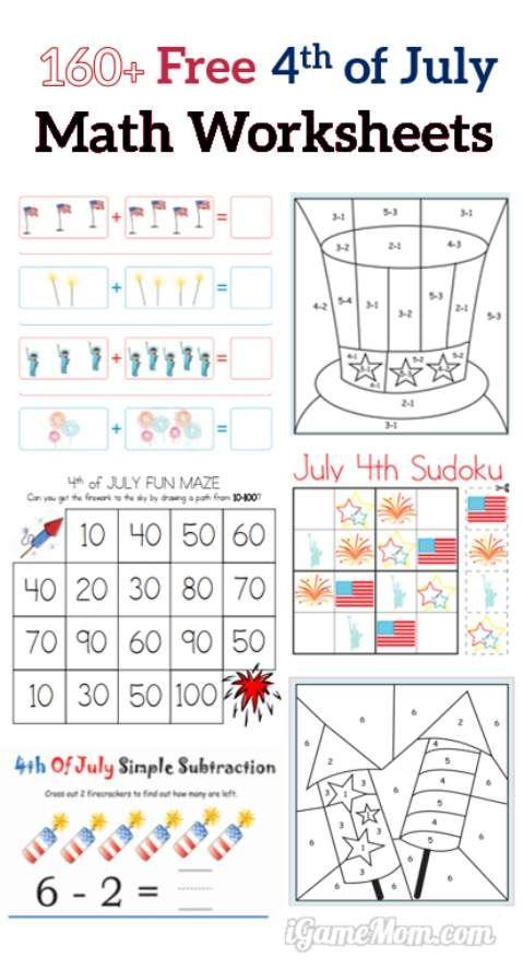 160+ Fourth Of July Printable Math Worksheets