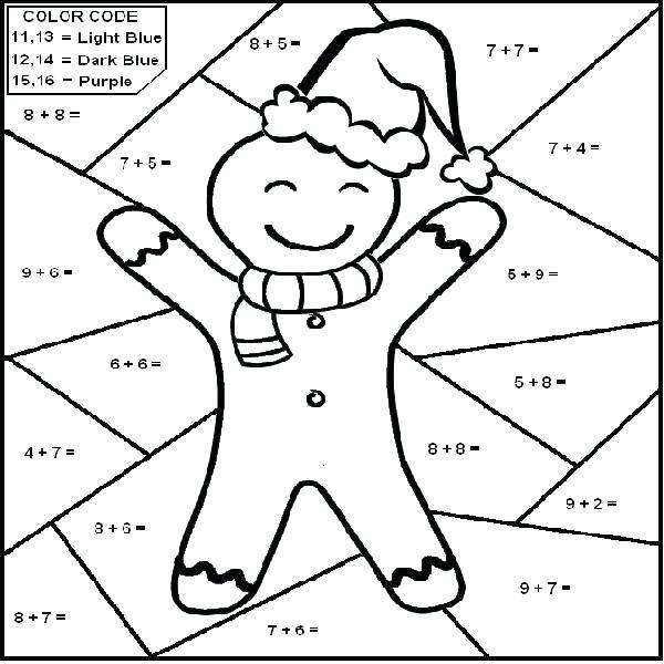 Christmas Themed Math Worksheets 5th Grade Math Coloring Sheets