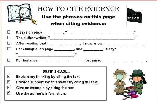 Text Based Evidence Worksheets – Arrahmah