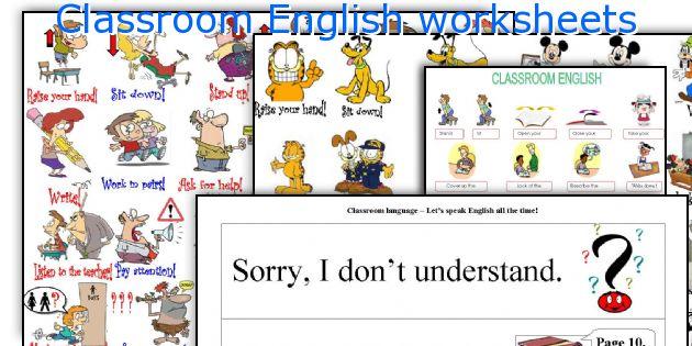 Classroom English Worksheets