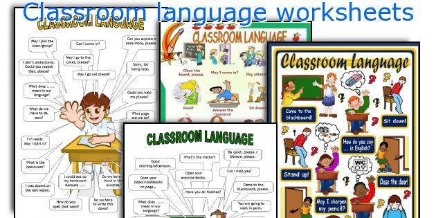 Classroom Language Worksheets