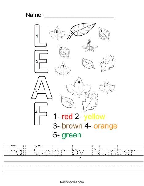 Color By Number Worksheets  33506