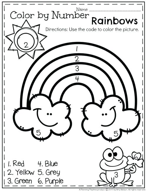 Color By Number Worksheets Free Additions Colors By Numbers