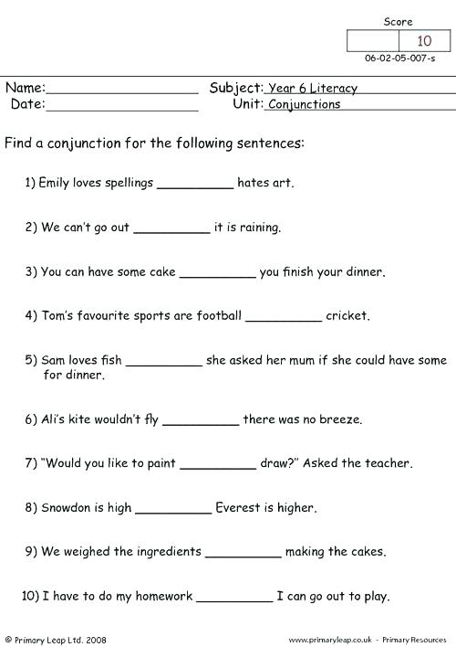 Conjunction Worksheets For High School Fish Lesson Plans The Best