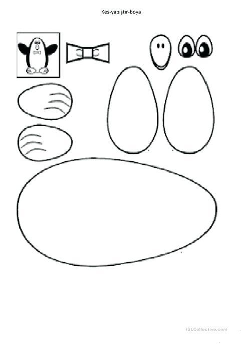 Cut And Paste Paint Penguin Worksheet Free Printable Penguin Math