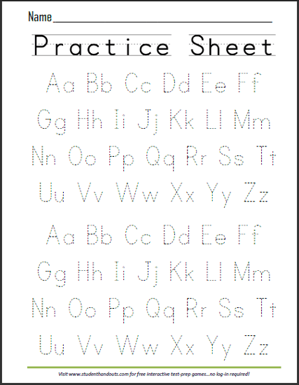 Abcs Dashed Letters Alphabet Writing Practice Worksheet