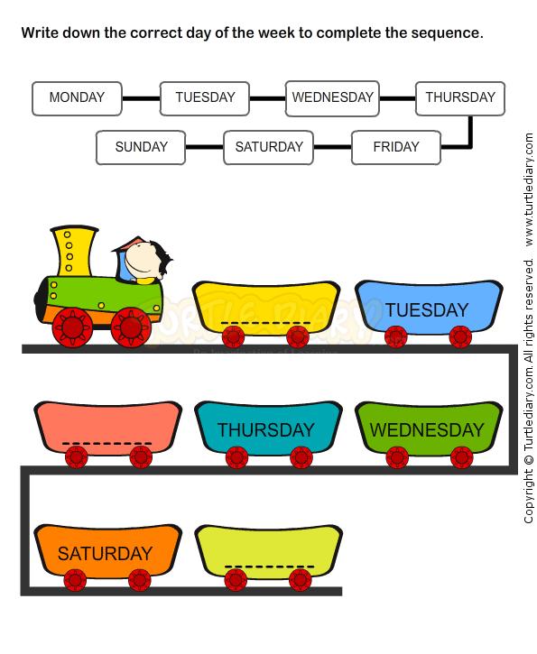 Weekdays Worksheet 7