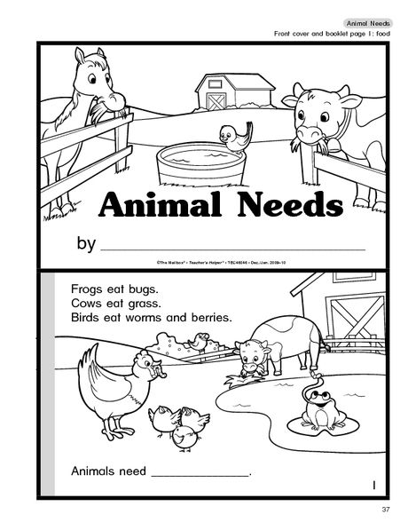 Science Booklet  Animal Needs (farm Animals)