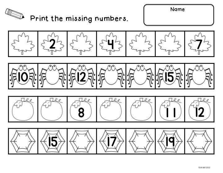 Fall Count To 20  A Center Activity And Worksheets Focusing On
