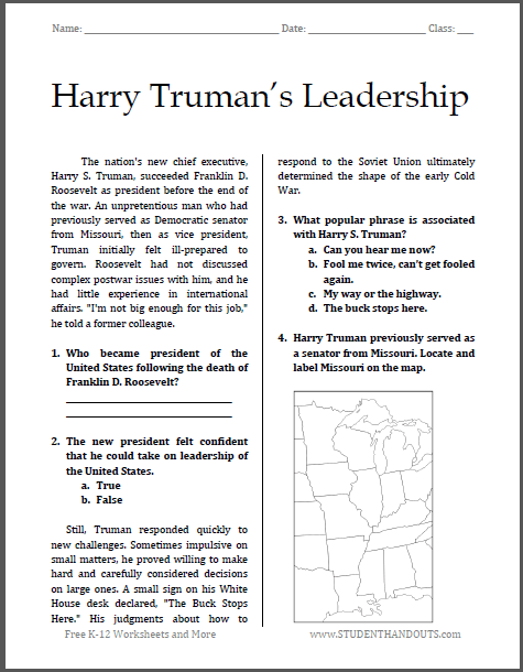 Harry Truman's Leadership