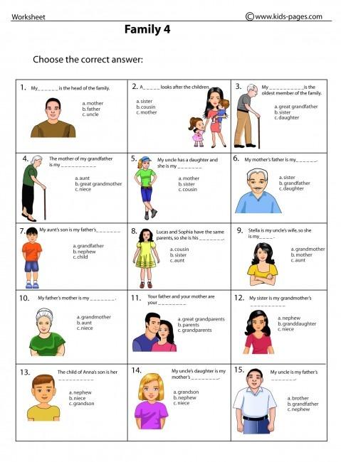 Family 4 Worksheet