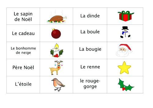 Fascinating French Vocab Worksheets On Best Secondary Christmas