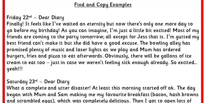 Find And Copy Examples Ks2 Reading Test Practice