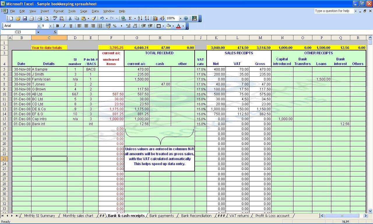Account Spreadsheet Templates
