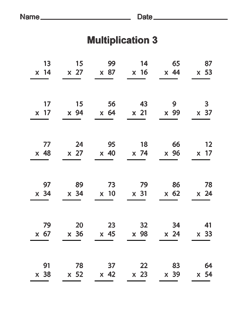 Double Digit Multiplication Worksheets Free – Dailypoll Co