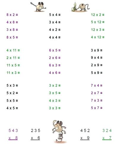 Timed Multiplication Worksheets Grade 4 – Newstalk Info