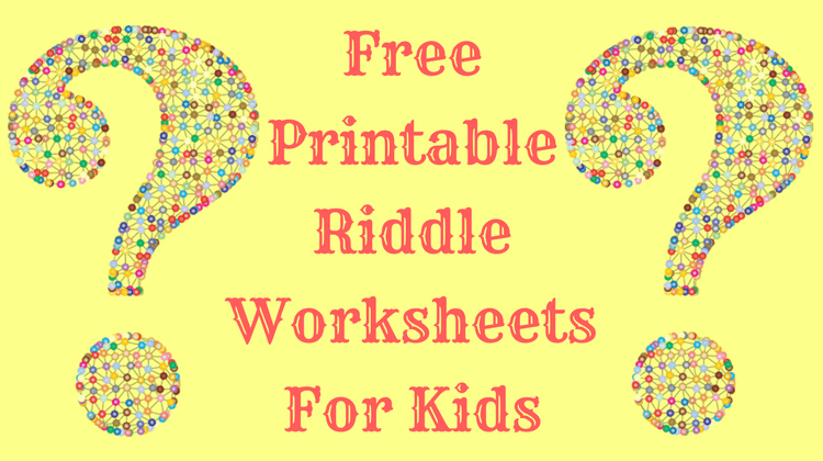 Free Printable Riddle Worksheets