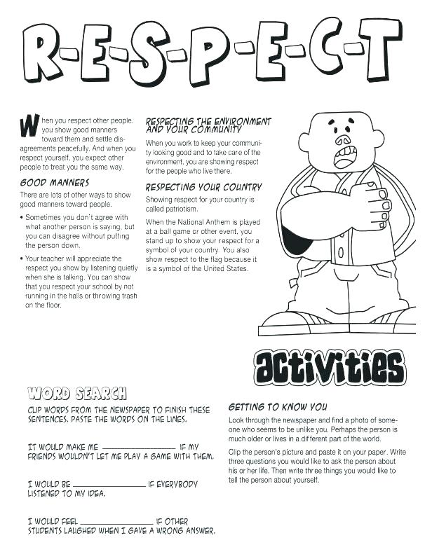 Free Printable Social Skills Worksheets Social Skills Worksheets