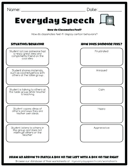 Free Social Skills Worksheets Social Skills Worksheets For Autism