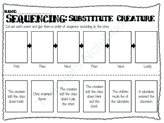 Cut And Paste Story Sequencing Worksheets Sequence For Picture