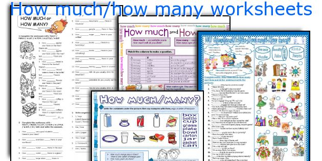 How Much How Many Worksheets