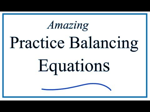 Balancing Chemical Equations Practice Problems Worksheet (video
