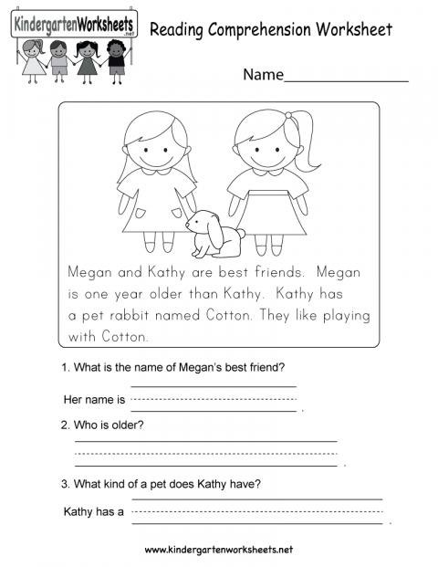 Kindergarten Reading Comprehension Worksheets ⋆ Free Printables