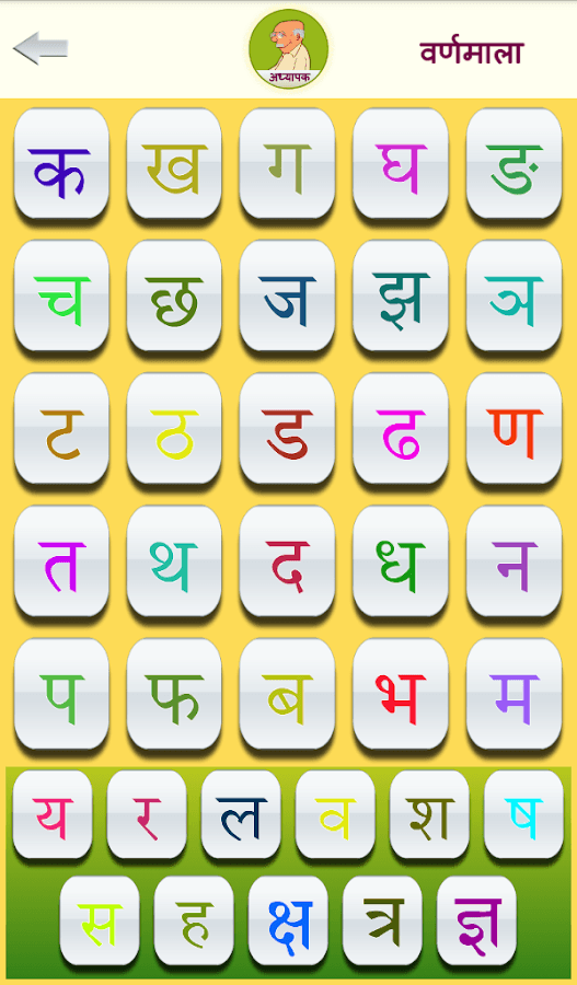 Hindi Varnamala Chart With Pictures
