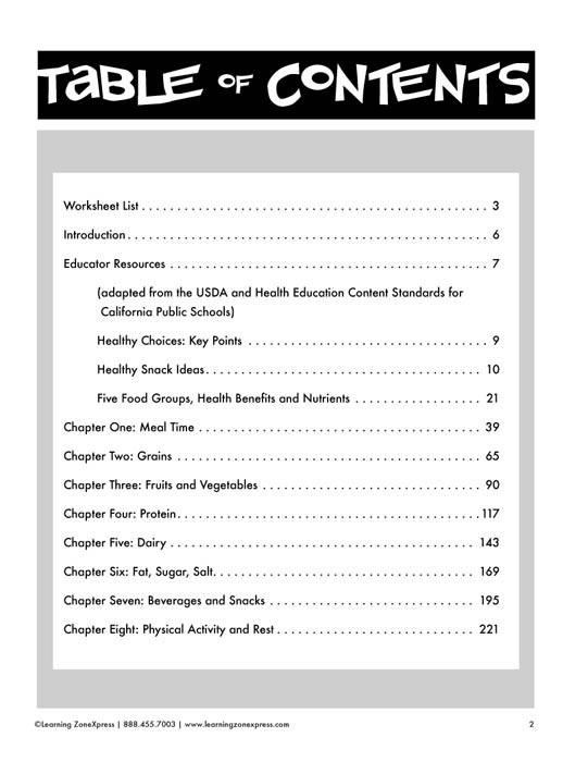 Kindergarten And Elementary Nutrition Classroom Activities