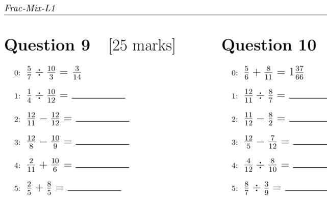 Printable Pdf Math Exercises