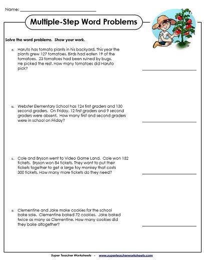 Multiplication Word Problems 3rd Grade Worksheets – Giallomusica