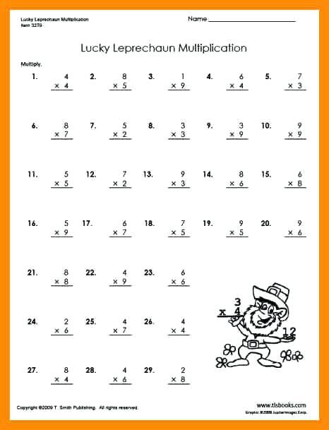 Download Free Printable Multiplication Worksheets For Grade 3