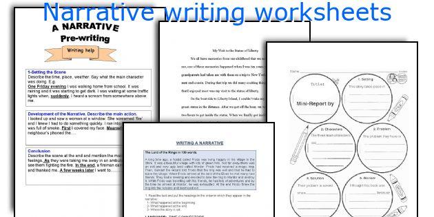 Narrative Writing Worksheets