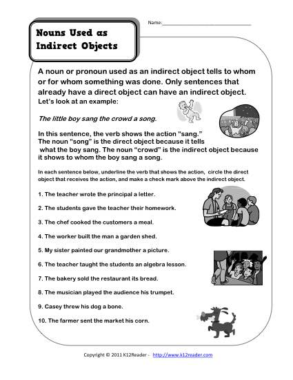 Nouns As Indirect Objects