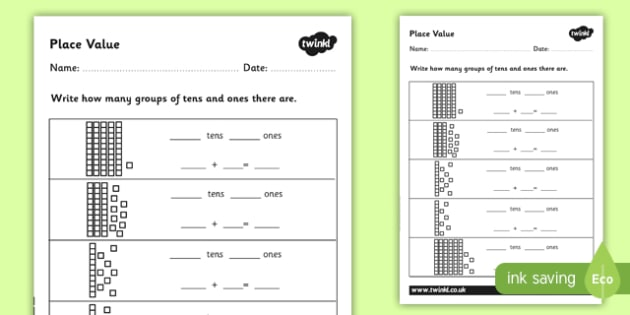 Place Value Review Worksheet Place Value Year 3 4 Australian Maths