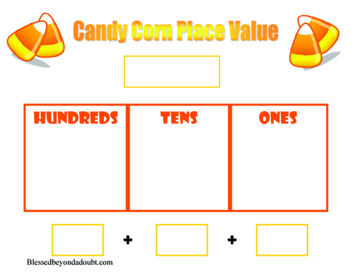 Candy Corn Place Value Worksheet And More!