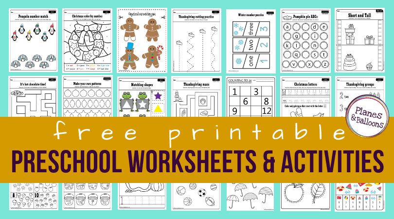 100+ Preschool Worksheets Pdf Printables You And Your Students