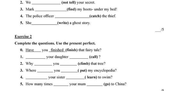 Present Perfect Simple Worksheet Free Esl Printable Worksheets In