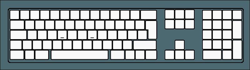 Printable Blank Computer Keyboard Worksheet