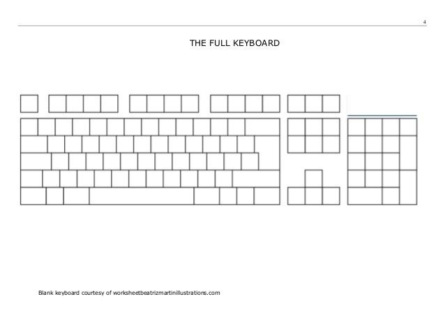 Printable Blank Keyboard Worksheet