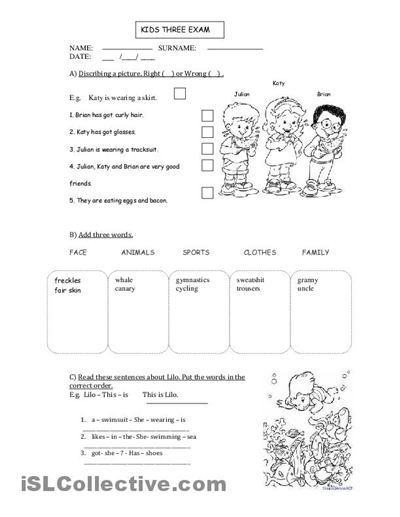 Printable Worksheets In French