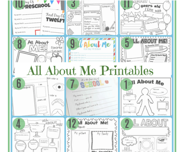 All About Me} 12 Free Printable Worksheets To Introduce Your Child